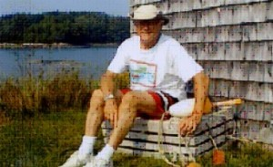 George Smith by the fishhouse in Maine